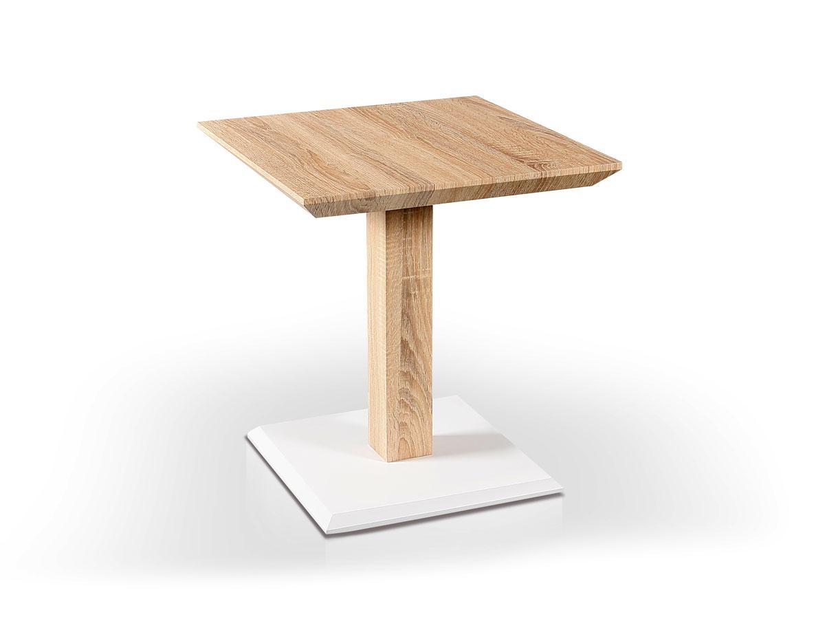 Möbel-Eins Cruz Beistelltisch / Couchtisch Eiche Sonoma / weiss