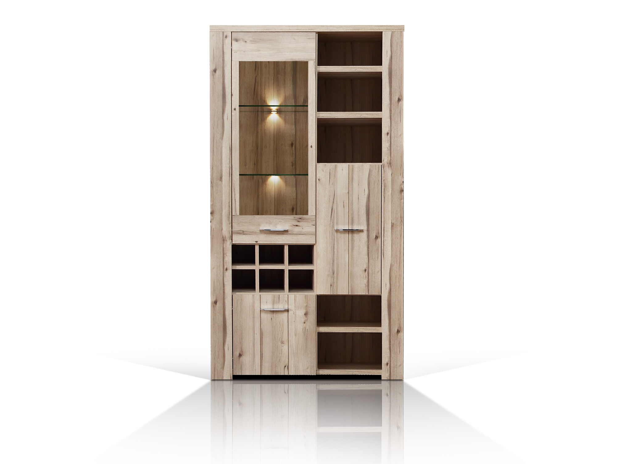 cuba l vitrine planked eiche. Black Bedroom Furniture Sets. Home Design Ideas