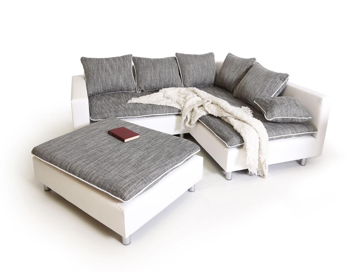 Vorschaubild von DAGGI Ecksofa / Sofa / Couch weiss / hellgrau