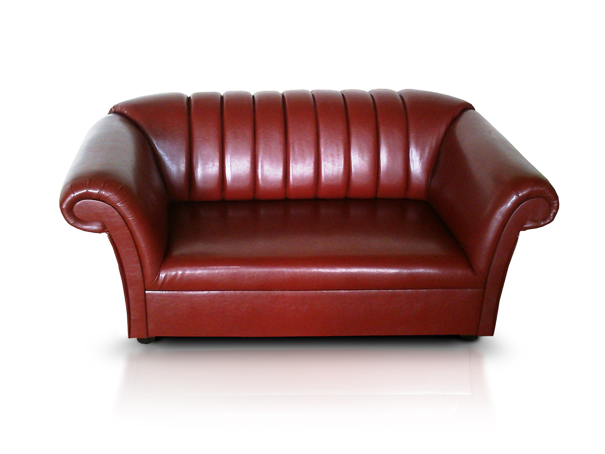 dalvin 2 sitzer sofa kunstleder antikweinrot. Black Bedroom Furniture Sets. Home Design Ideas