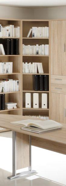 office line eckregal eiche sonoma. Black Bedroom Furniture Sets. Home Design Ideas