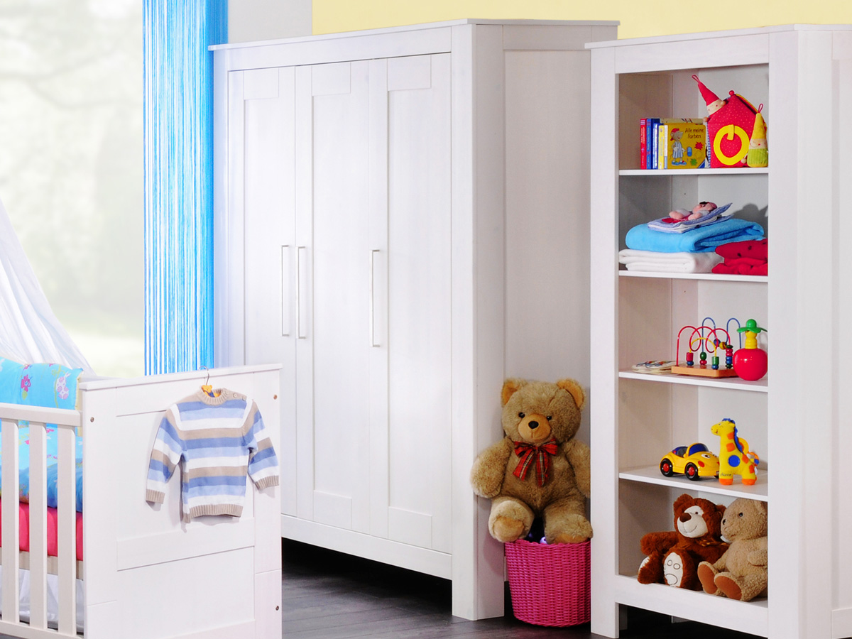 kinderzimmer kleiderschrank weiss g nstig kaufen. Black Bedroom Furniture Sets. Home Design Ideas