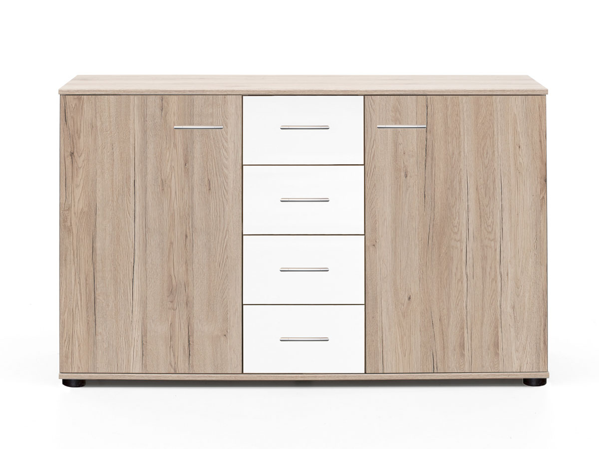 eric ii sideboard san remo eiche weiss. Black Bedroom Furniture Sets. Home Design Ideas
