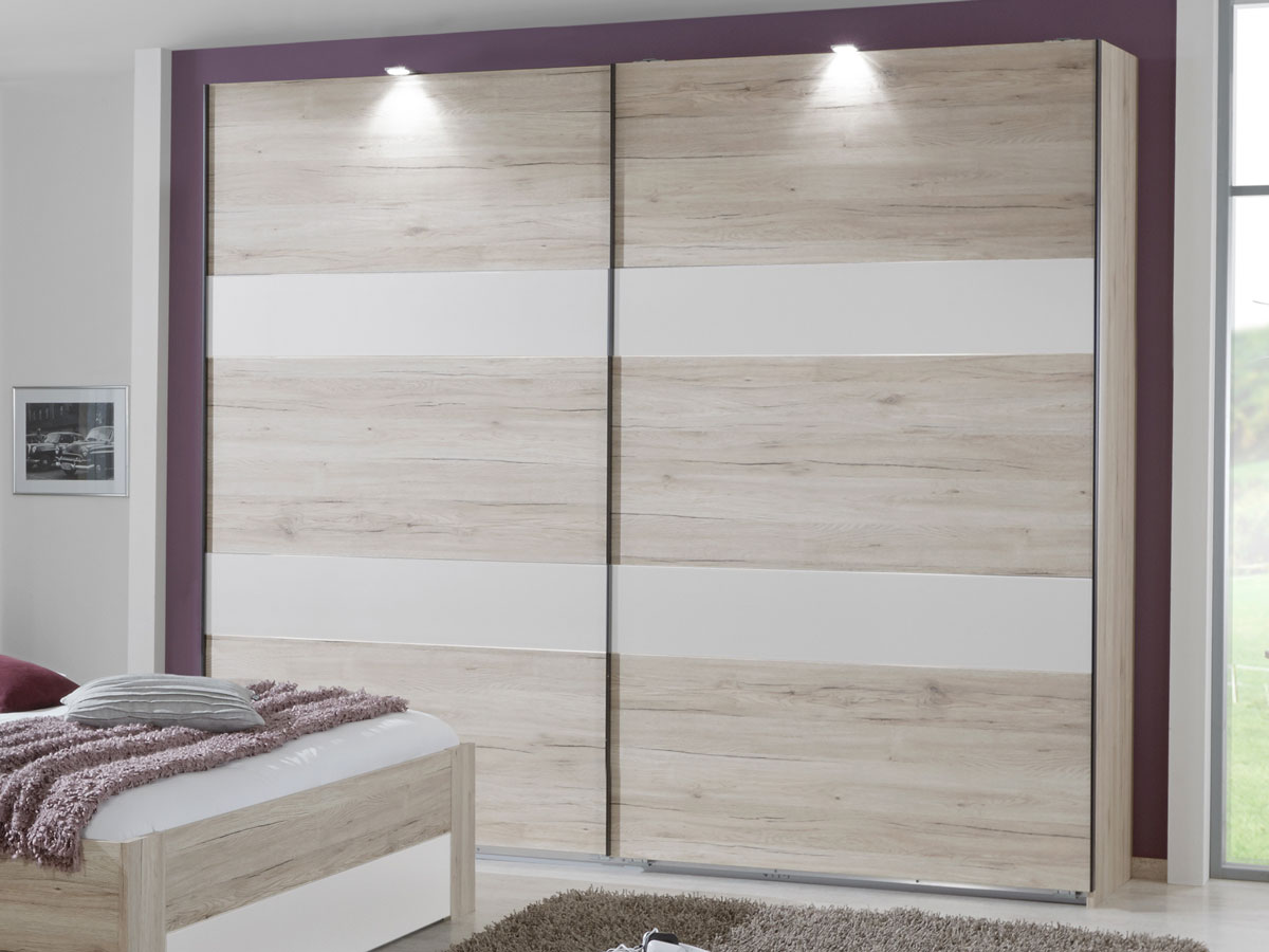 eric schwebet renschrank 225 cm san remo eiche weiss. Black Bedroom Furniture Sets. Home Design Ideas