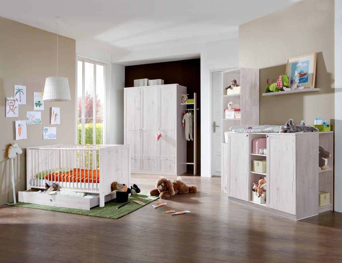 fee babyzimmer 5 teilig wei eiche. Black Bedroom Furniture Sets. Home Design Ideas
