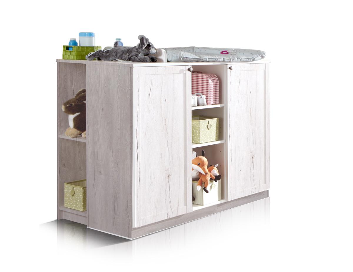 fee wickelkommode wei eiche. Black Bedroom Furniture Sets. Home Design Ideas