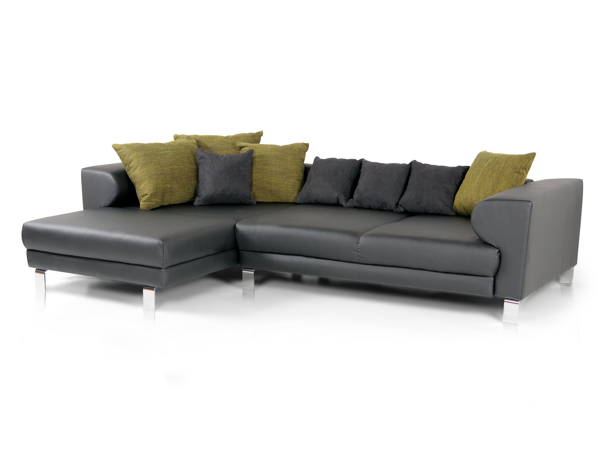 folke sofa kunstleder schwarz ottomane links. Black Bedroom Furniture Sets. Home Design Ideas