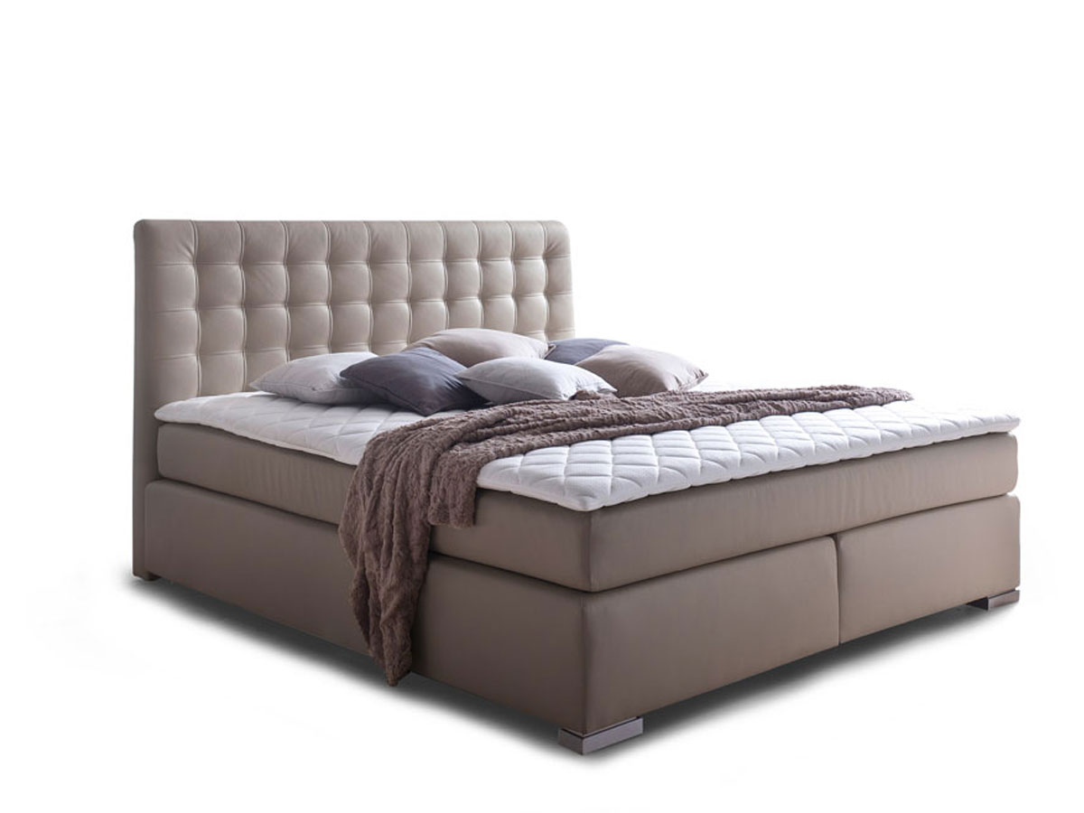 isabell boxspringbett 200 x 200 cm muddy h rtegrad 2 3. Black Bedroom Furniture Sets. Home Design Ideas