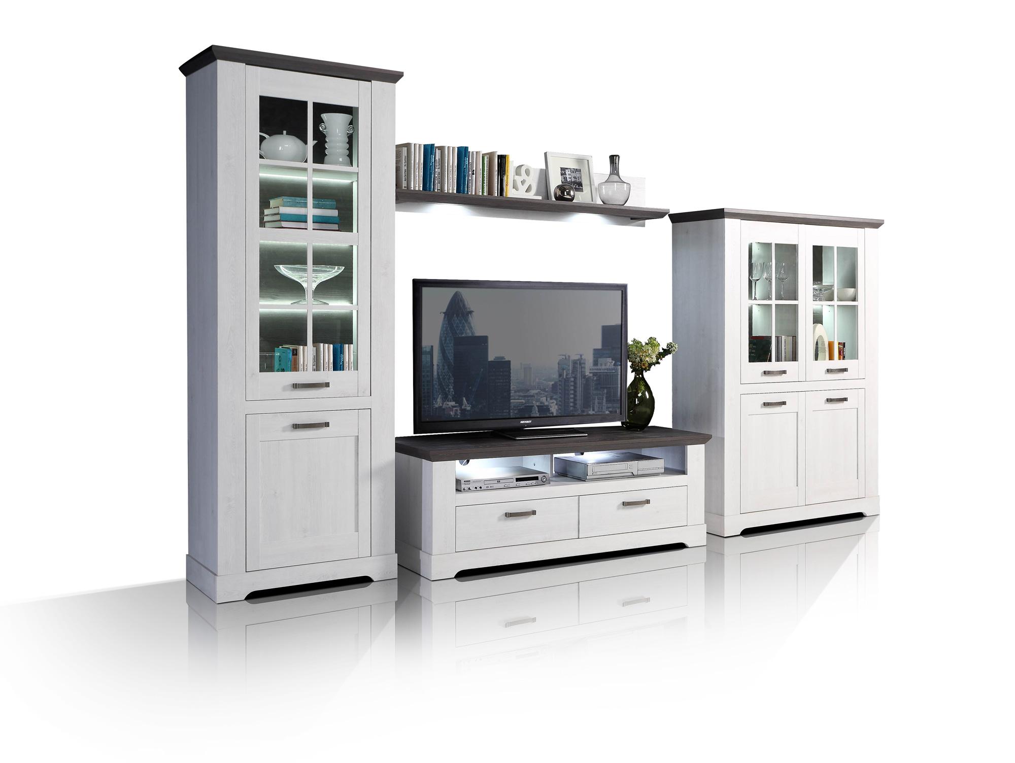 wohnw nde hochglanz grau weiss g nstig kaufen. Black Bedroom Furniture Sets. Home Design Ideas