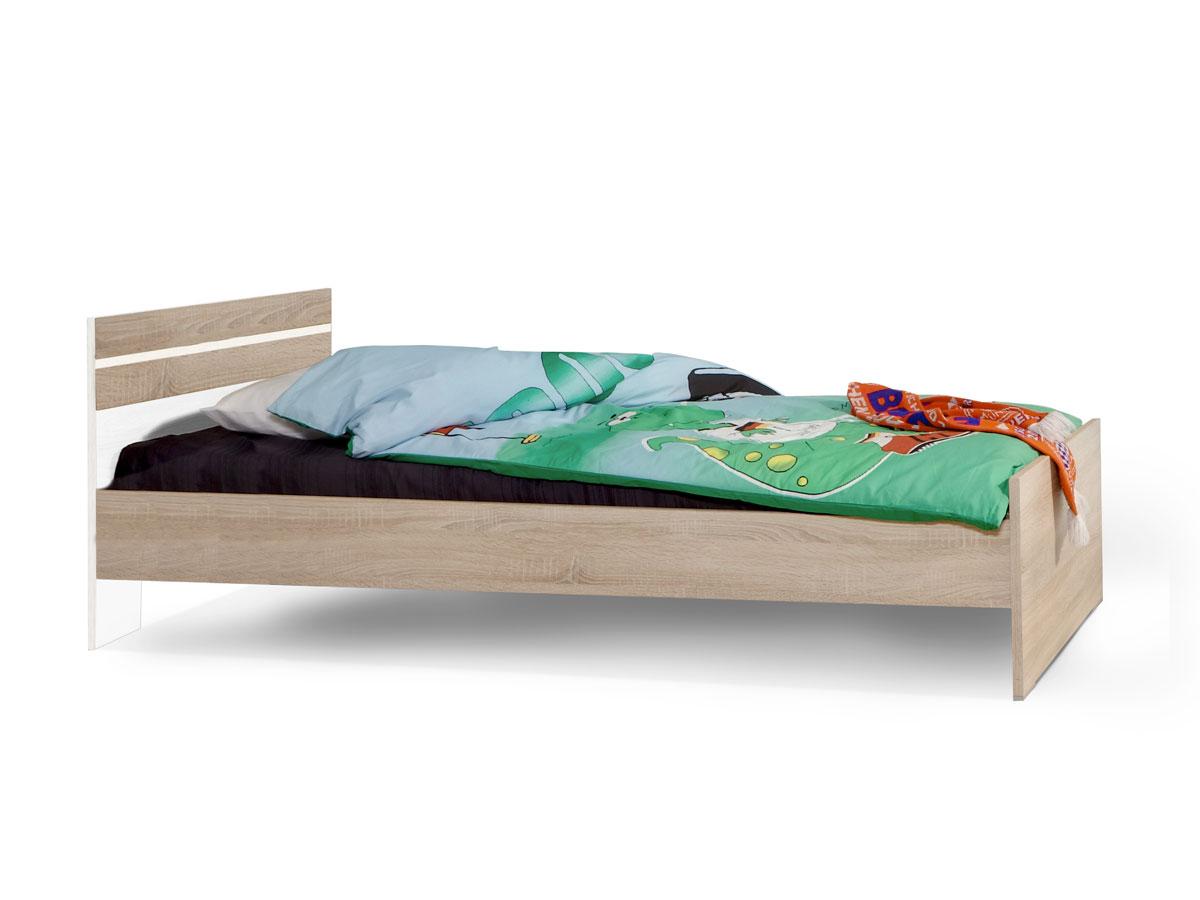 garry futonbett 90x200 cm weiss eiche s gerau. Black Bedroom Furniture Sets. Home Design Ideas