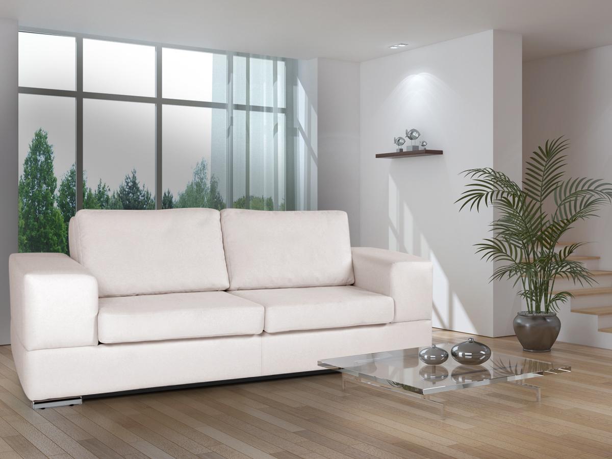 genta 3er sofa creme weiss. Black Bedroom Furniture Sets. Home Design Ideas