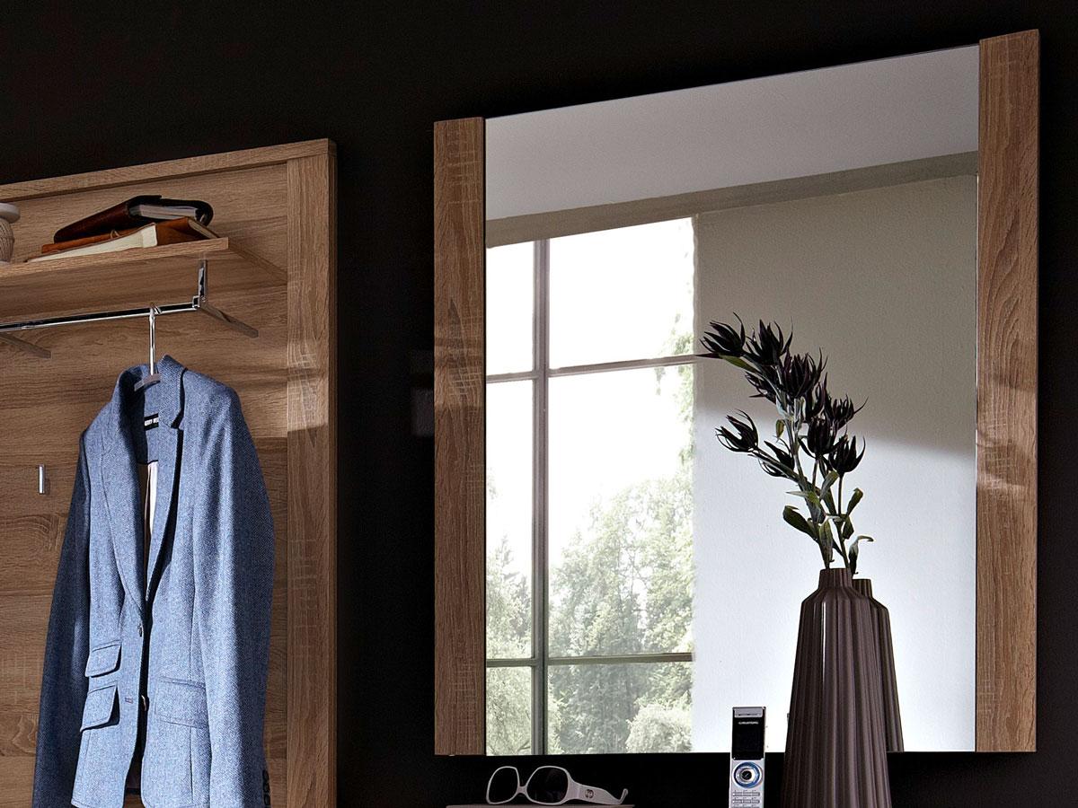 grande spiegel 74x90 cm sonoma eiche hell. Black Bedroom Furniture Sets. Home Design Ideas