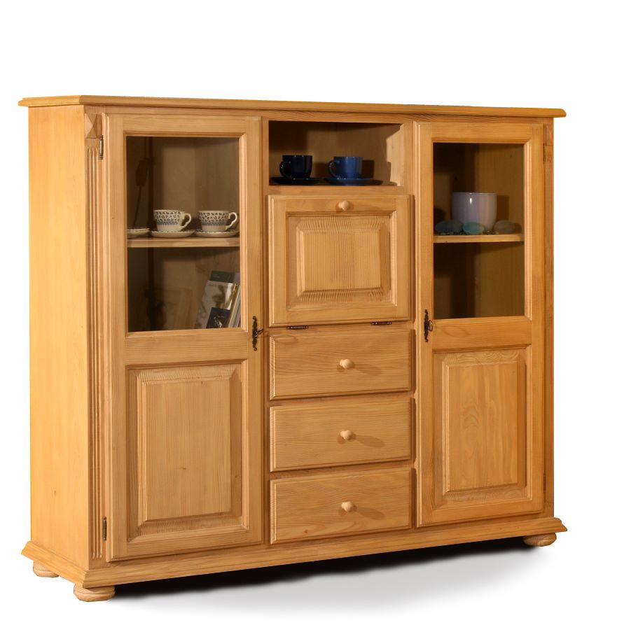 highboard massiv fichte g nstig kaufen. Black Bedroom Furniture Sets. Home Design Ideas