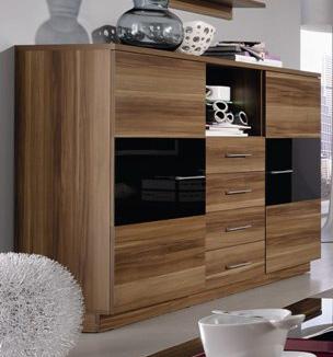 highboard nussbaum g nstig kaufen. Black Bedroom Furniture Sets. Home Design Ideas