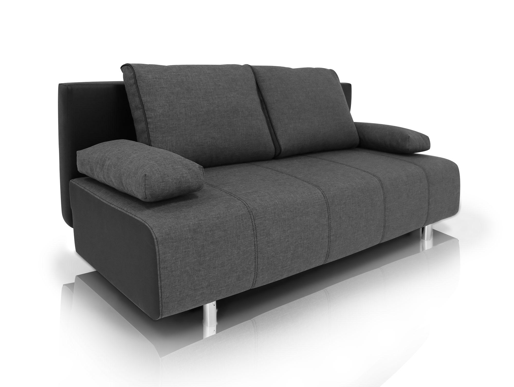 inka schlafsofa schlafcouch schwarz anthrazit. Black Bedroom Furniture Sets. Home Design Ideas