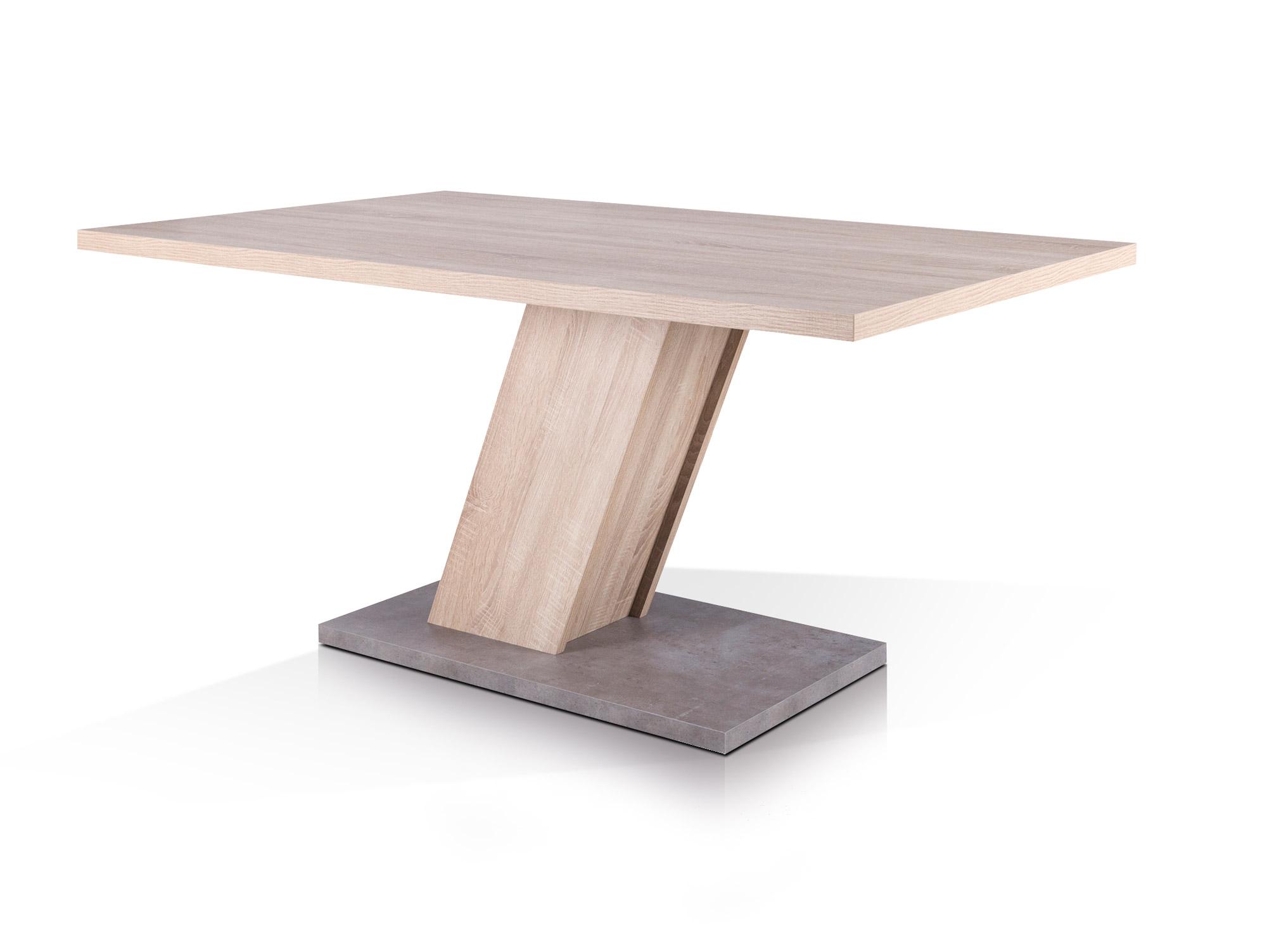 innsbruck esstisch 160x90 cm sonoma fu beton. Black Bedroom Furniture Sets. Home Design Ideas