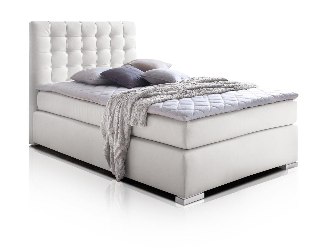 isabell boxspringbett 90 x 200 cm weiss h rtegrad 2. Black Bedroom Furniture Sets. Home Design Ideas