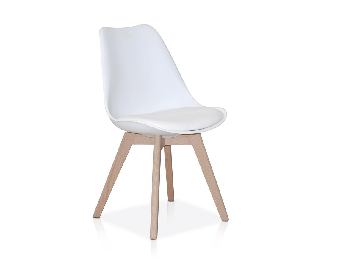 joker schalenstuhl esszimmerstuhl eiche kunstleder weiss. Black Bedroom Furniture Sets. Home Design Ideas