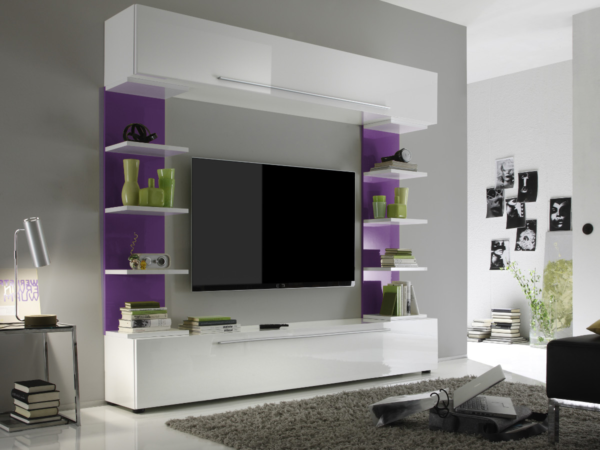 wohnwand buche wei modern raum und m beldesign inspiration. Black Bedroom Furniture Sets. Home Design Ideas
