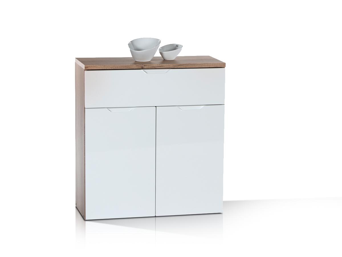 joy stauraumelement kommode 1 eiche sonoma weiss 73x80x35. Black Bedroom Furniture Sets. Home Design Ideas