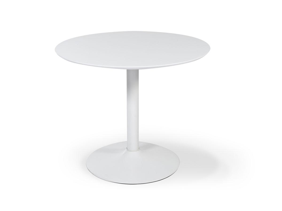 Judy esstisch gestell wei platte wei hochglanz for Esstisch weiss mit grauer platte