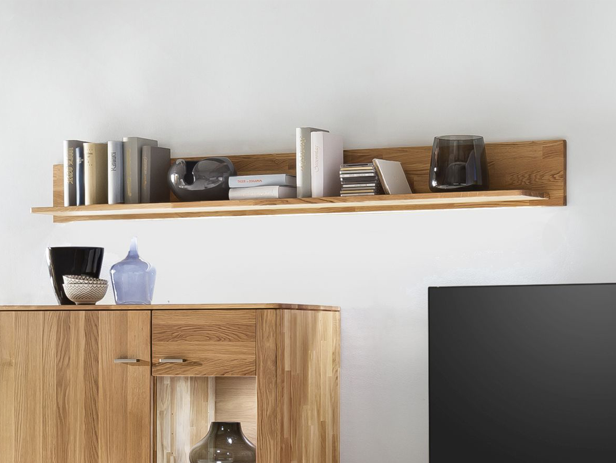 kanton wandboard massiv eiche 160 cm. Black Bedroom Furniture Sets. Home Design Ideas