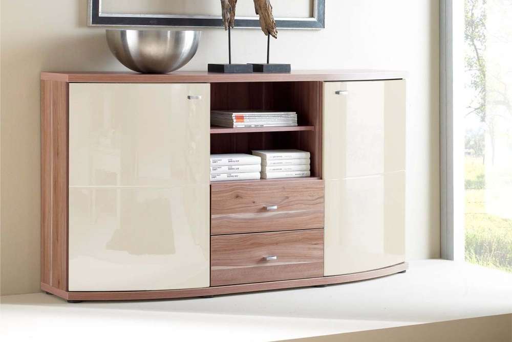 sideboard walnuss schwarz elegant sideboard lustig. Black Bedroom Furniture Sets. Home Design Ideas