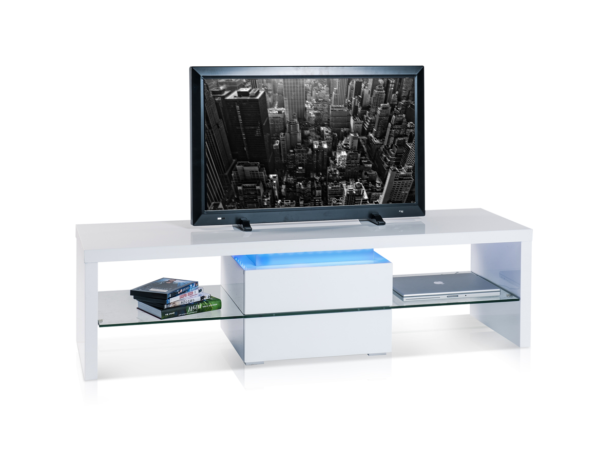 kentucky tv rack hochglanz wei. Black Bedroom Furniture Sets. Home Design Ideas