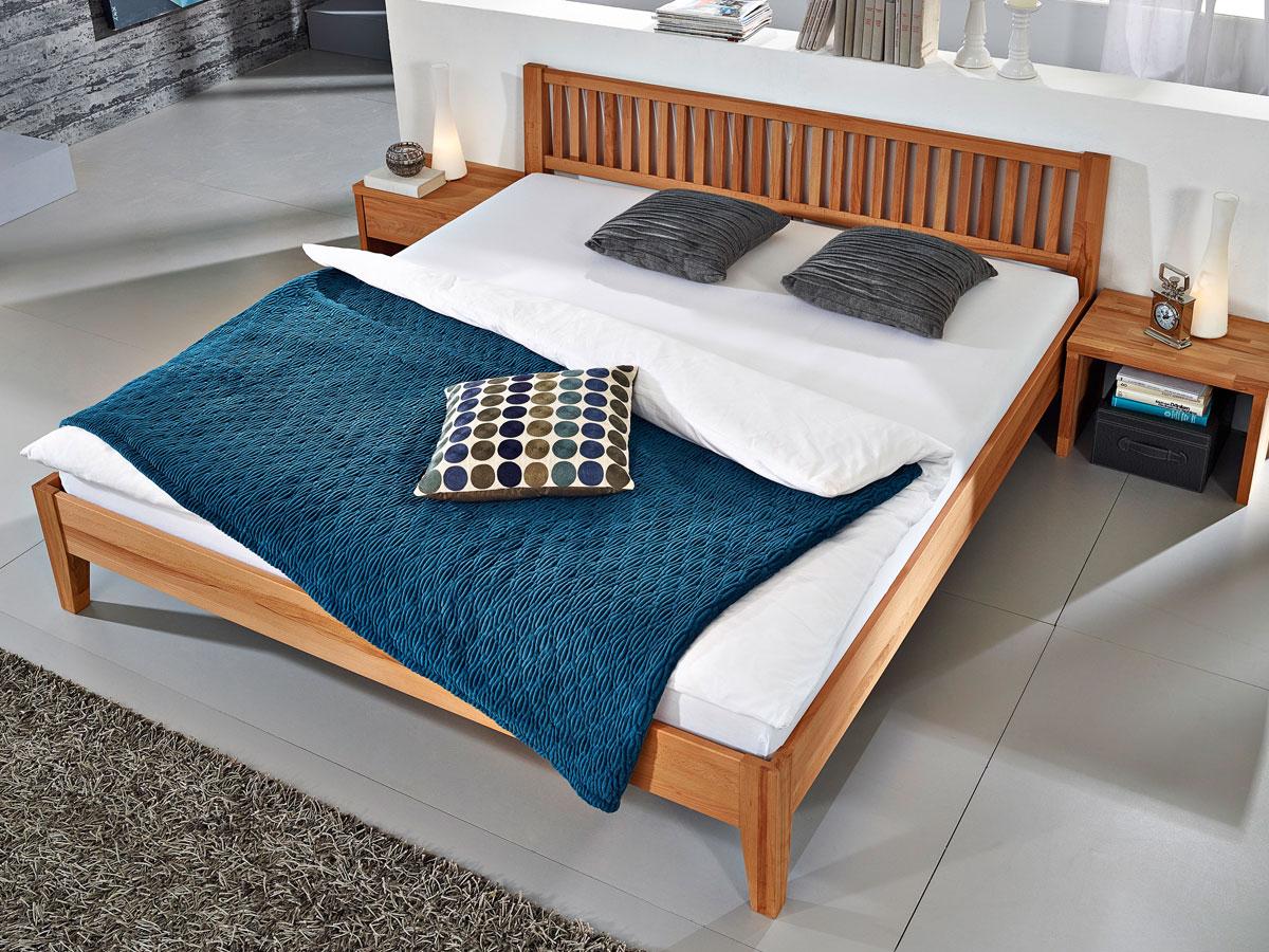 ferdy massivholzbett kernbuche 100x200 cm 45 cm. Black Bedroom Furniture Sets. Home Design Ideas