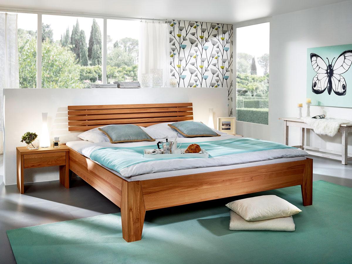 bahama massivholzbett ge lt kernbuche 180x200 cm 35 cm. Black Bedroom Furniture Sets. Home Design Ideas