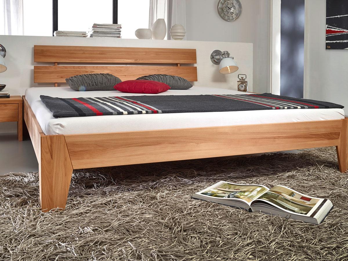 ricky massivholzbett kernbuche 90x200 cm 45 cm. Black Bedroom Furniture Sets. Home Design Ideas