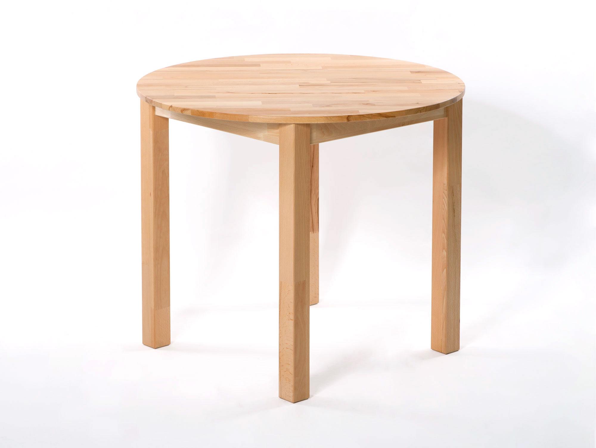 dirk esstisch rund 90 cm material massivholz kernbuche. Black Bedroom Furniture Sets. Home Design Ideas