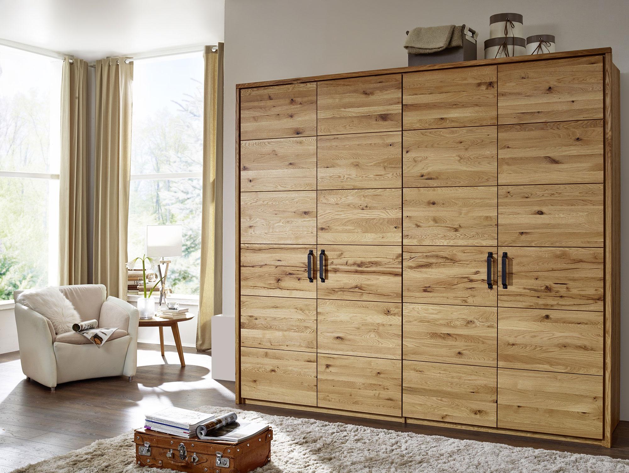 massivholz kleiderschrank salvador wildeiche ge lt 100 cm. Black Bedroom Furniture Sets. Home Design Ideas