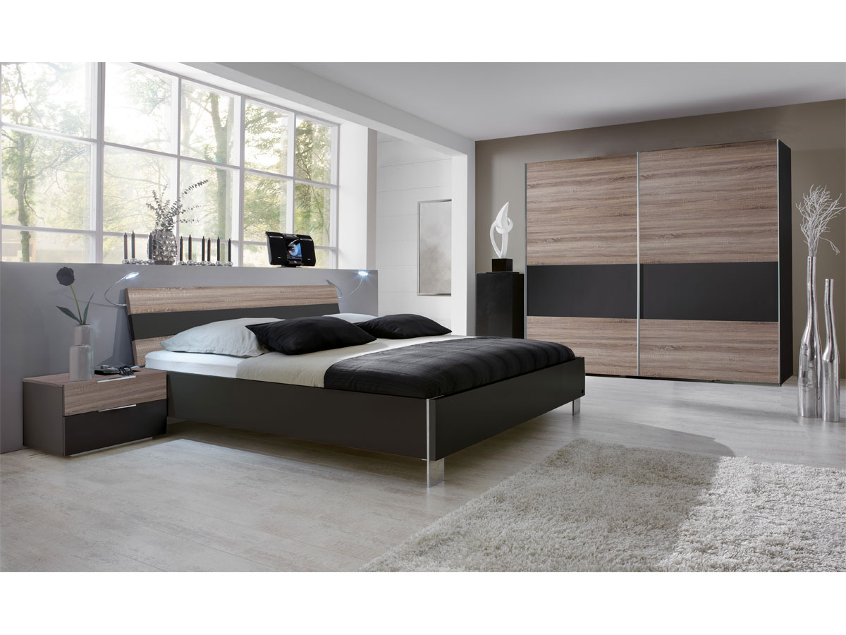 leila komplett schlafzimmer montana eiche lavagrau 140x200 cm 200 cm. Black Bedroom Furniture Sets. Home Design Ideas