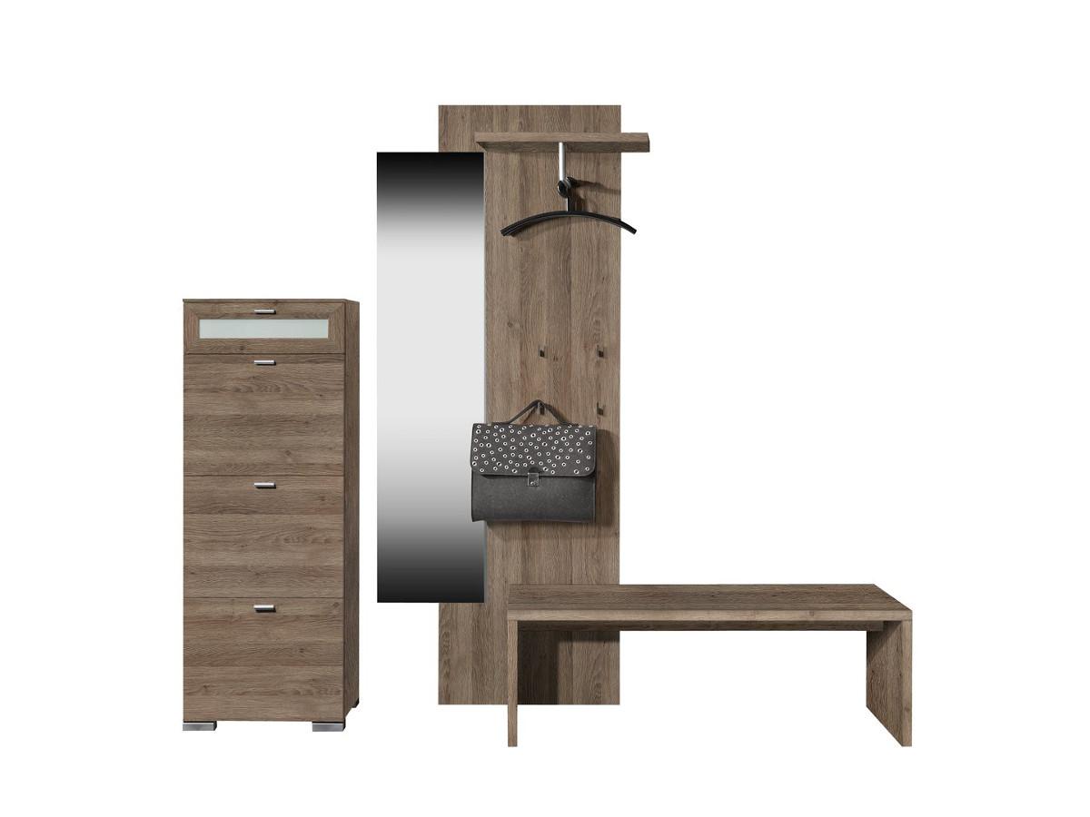 sitzbank mit schubladen eiche g nstig kaufen. Black Bedroom Furniture Sets. Home Design Ideas