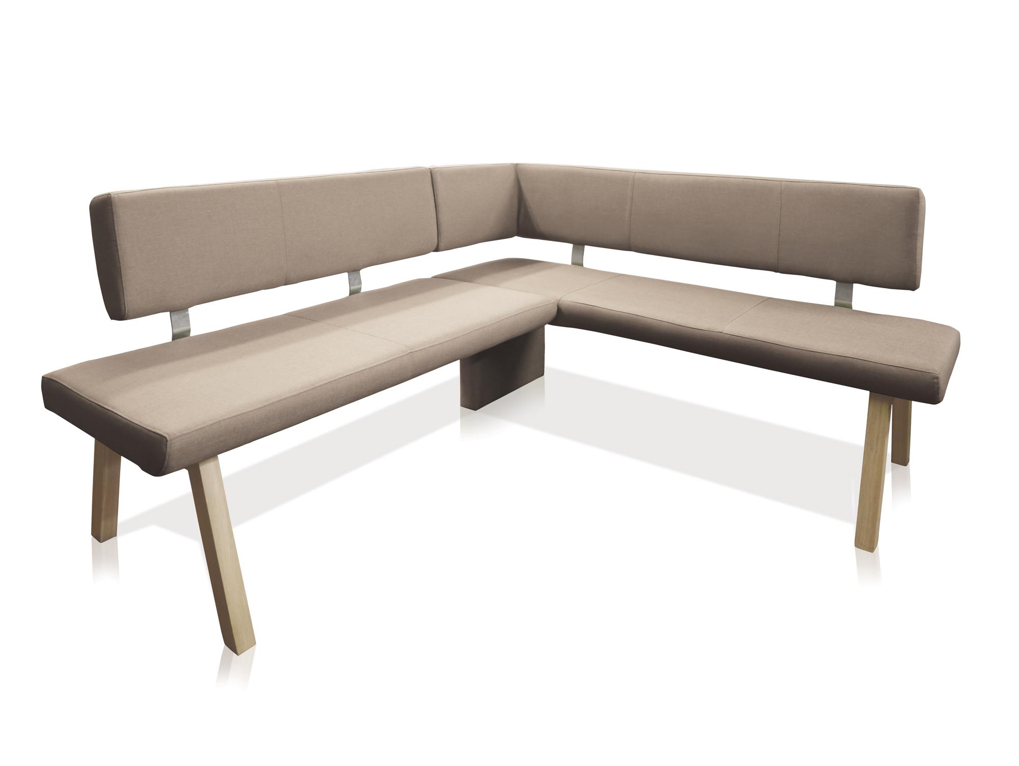 koby eckbank mit stoffbezug taupe rechts 192 x 161 cm. Black Bedroom Furniture Sets. Home Design Ideas