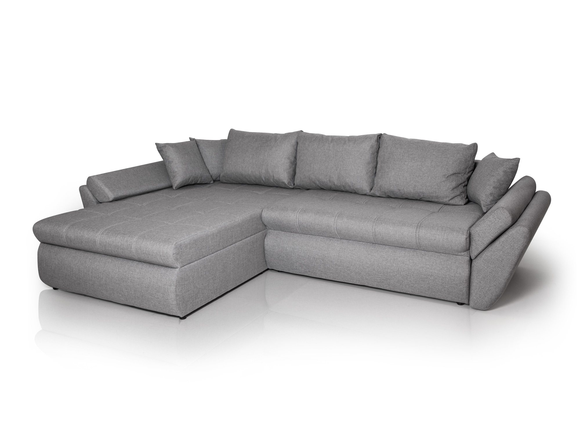 lanzarote ecksofa stoff hellgrau. Black Bedroom Furniture Sets. Home Design Ideas