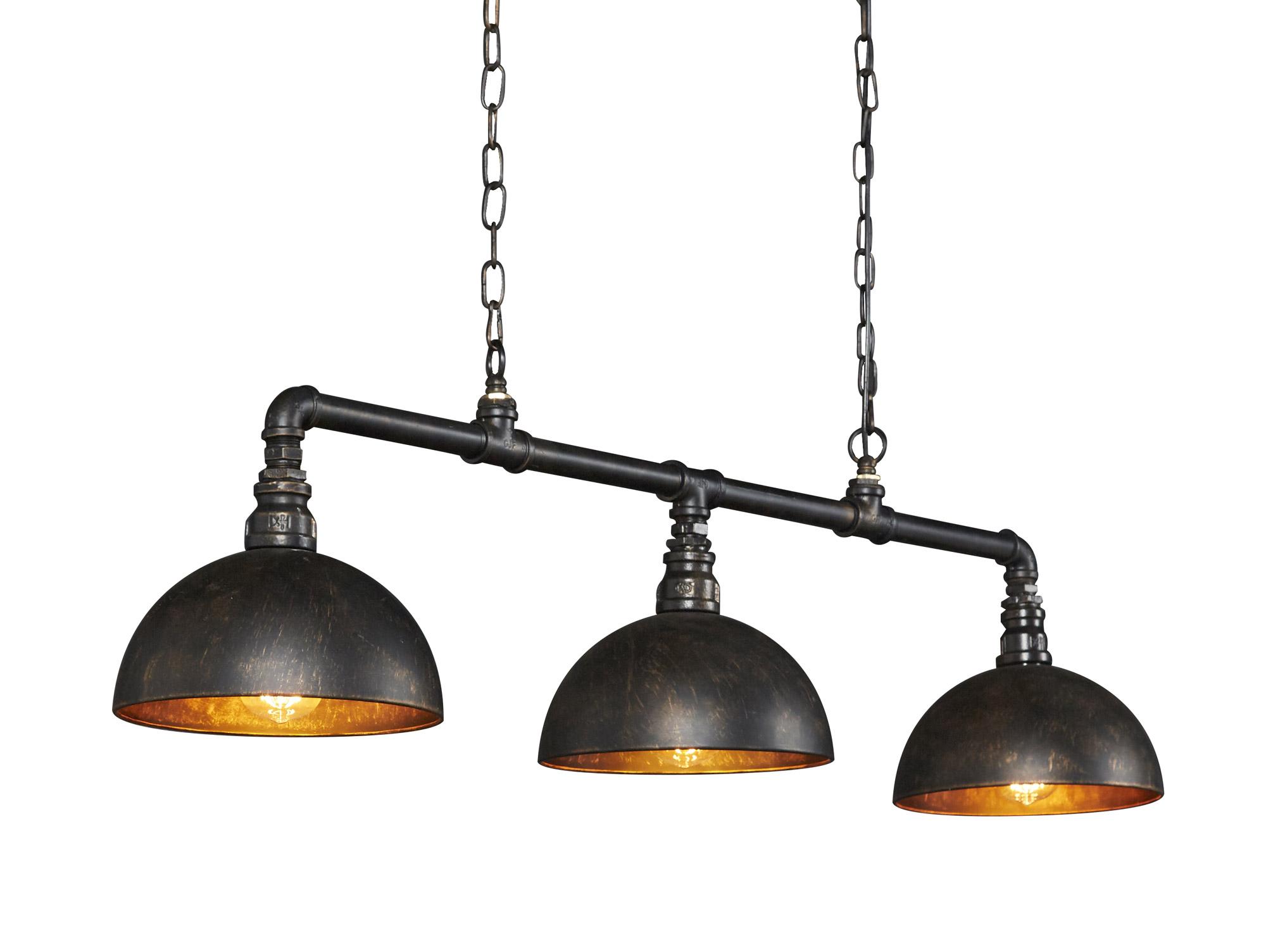 LEAH Hängelampe 9 Lampen Halbkugel Lampenschirm