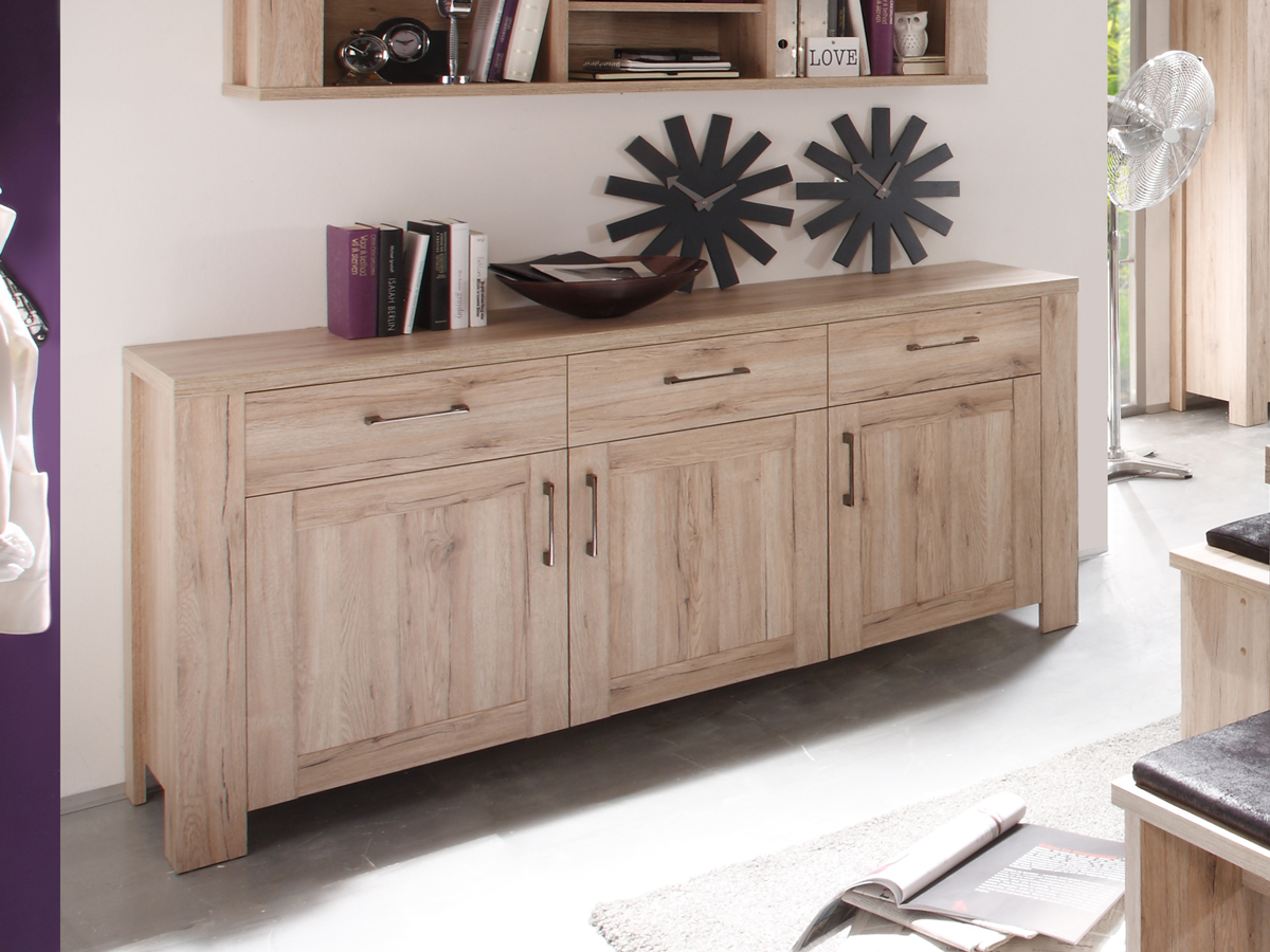 leroy sideboard san remo eiche preiswert. Black Bedroom Furniture Sets. Home Design Ideas