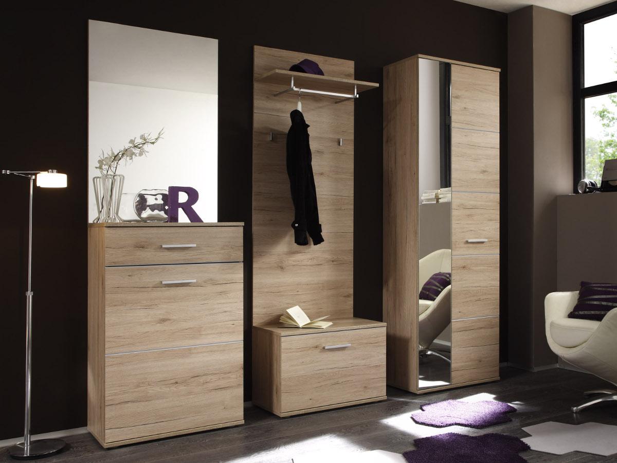 garderobe eiche free garderobe in san remo mit paneel with garderobe eiche great garderobe. Black Bedroom Furniture Sets. Home Design Ideas
