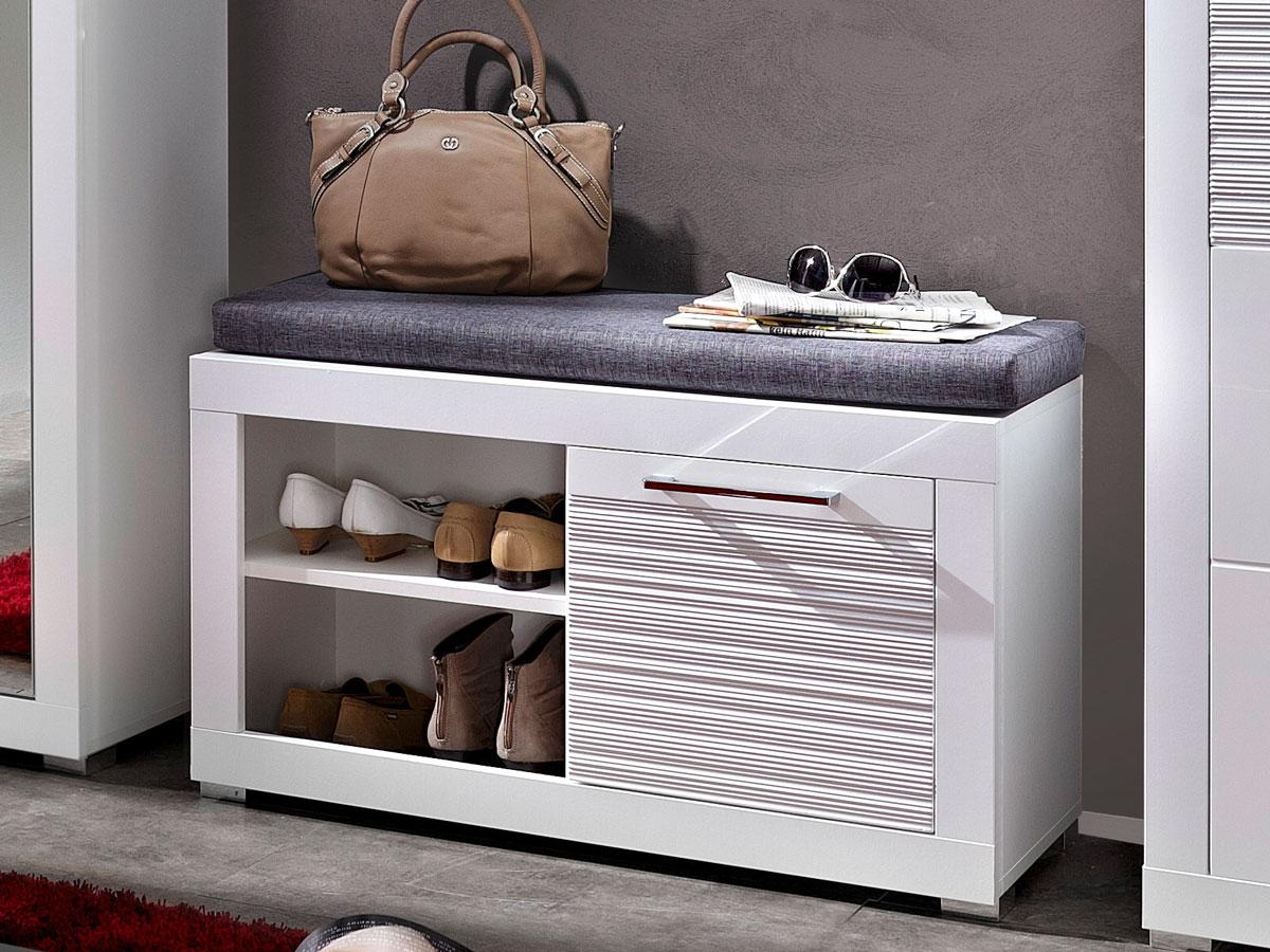 live garderobenbank wei. Black Bedroom Furniture Sets. Home Design Ideas