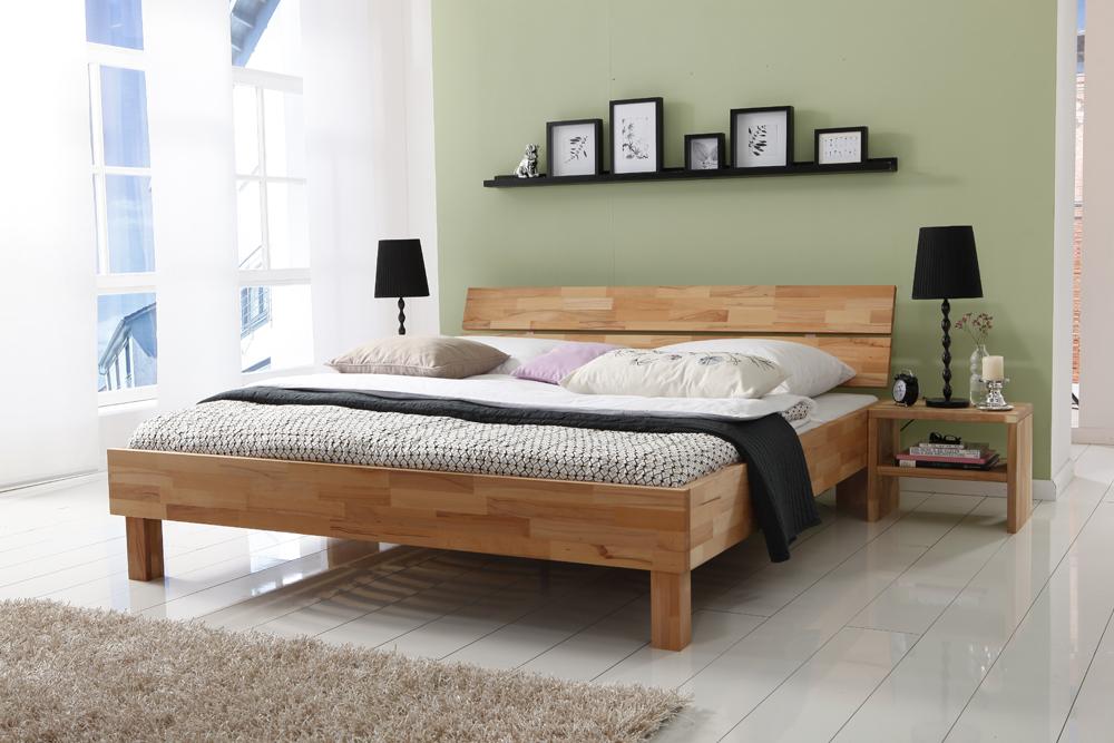 L wen woodline doppelbett massivholzbett 90 x 200 buche for Recamaras de madera df