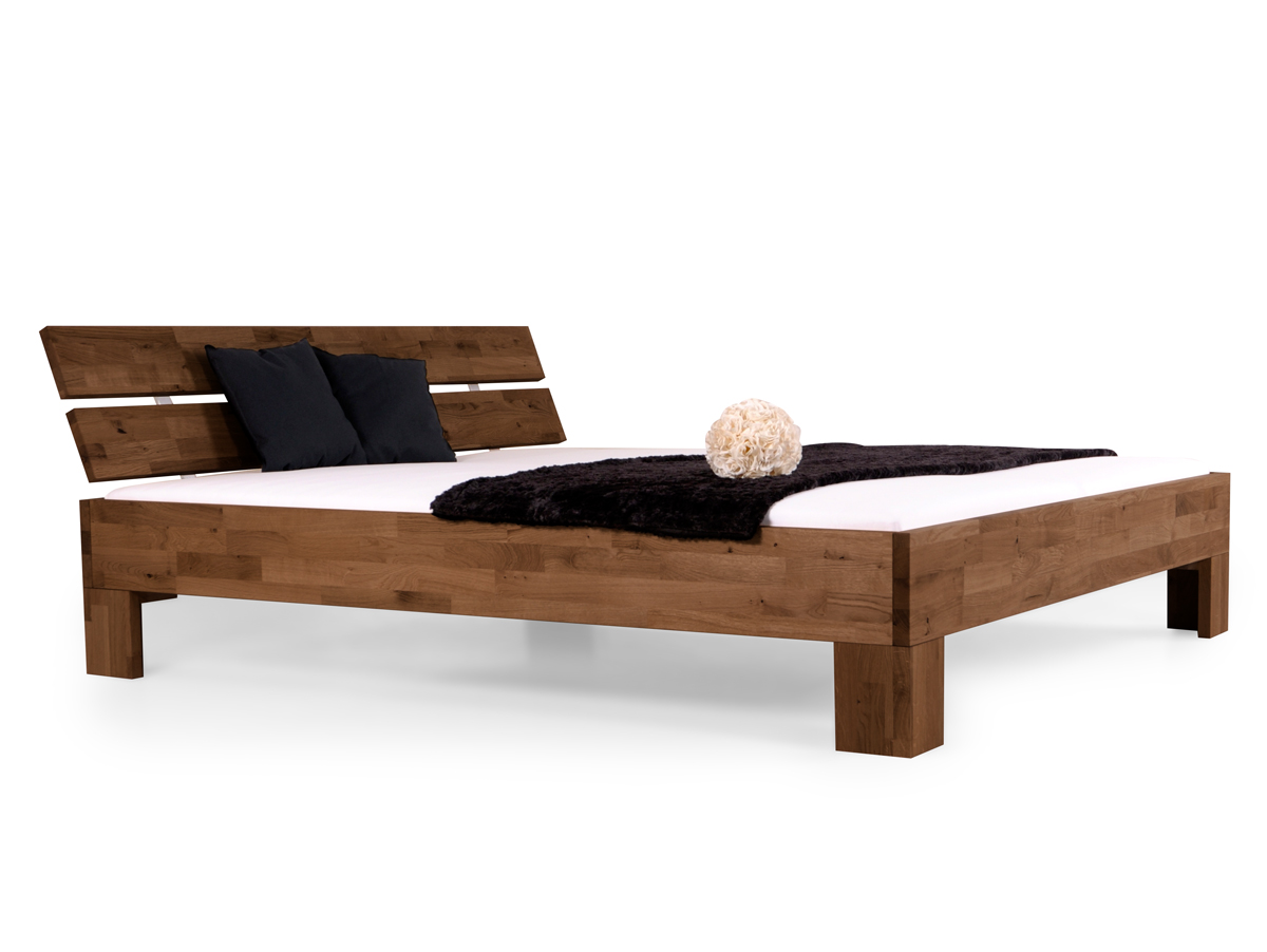 l wen woodline doppelbett massivholzbett 120 x 220 nussbaum gebeizt l we. Black Bedroom Furniture Sets. Home Design Ideas