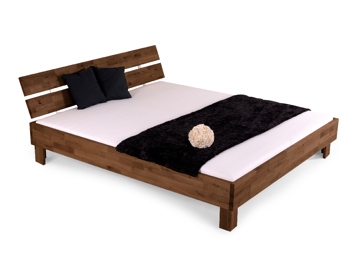 l wen woodline doppelbett massivholzbett 120 x 220 schoko gebeizt tiger. Black Bedroom Furniture Sets. Home Design Ideas