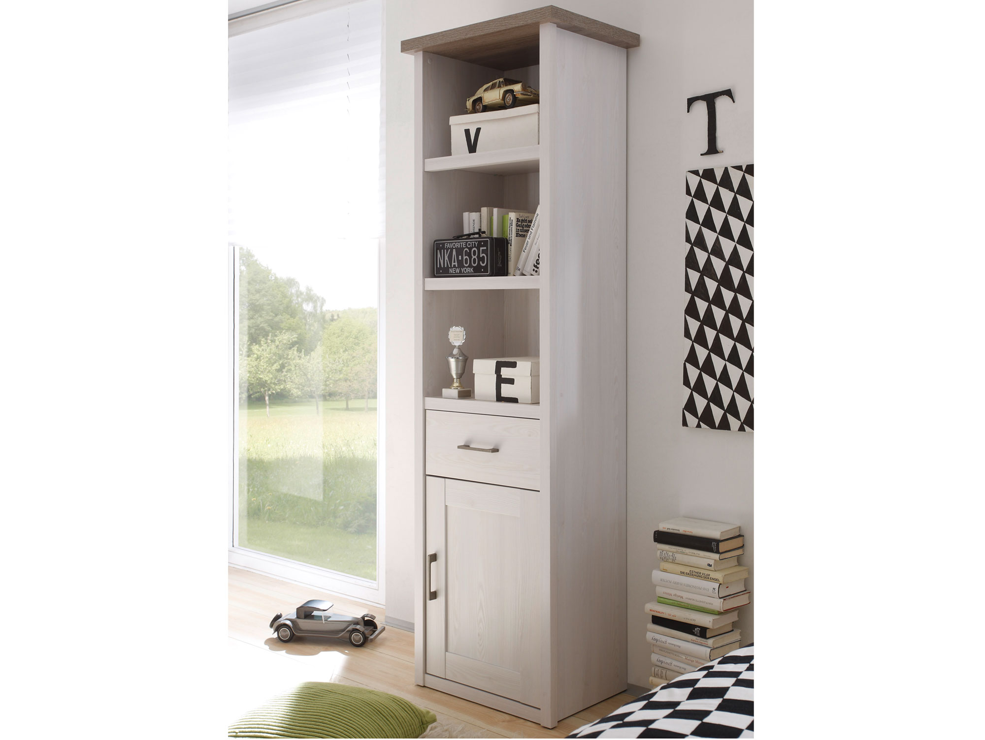 luba standregal pinie wei tr ffel. Black Bedroom Furniture Sets. Home Design Ideas