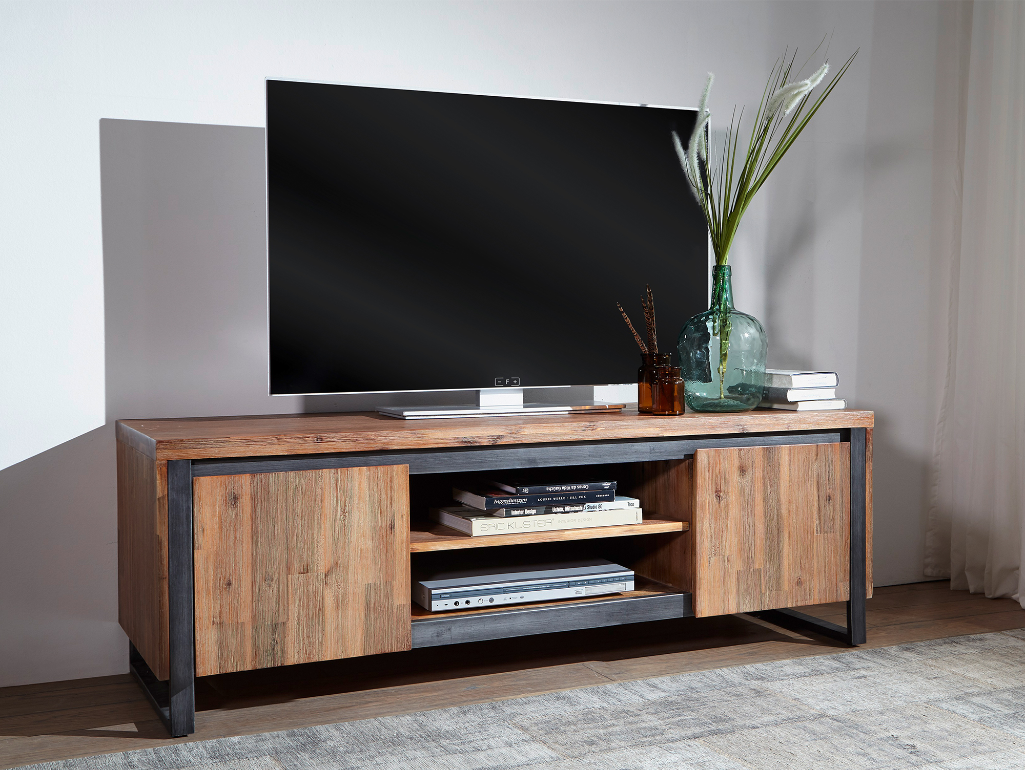 malaga tv lowboard i akazie geb rstet. Black Bedroom Furniture Sets. Home Design Ideas
