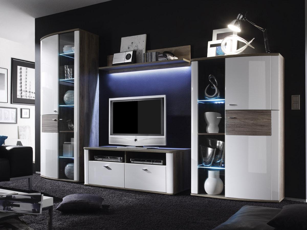 wohnw nde aus eiche sch ne m bel online kaufen. Black Bedroom Furniture Sets. Home Design Ideas
