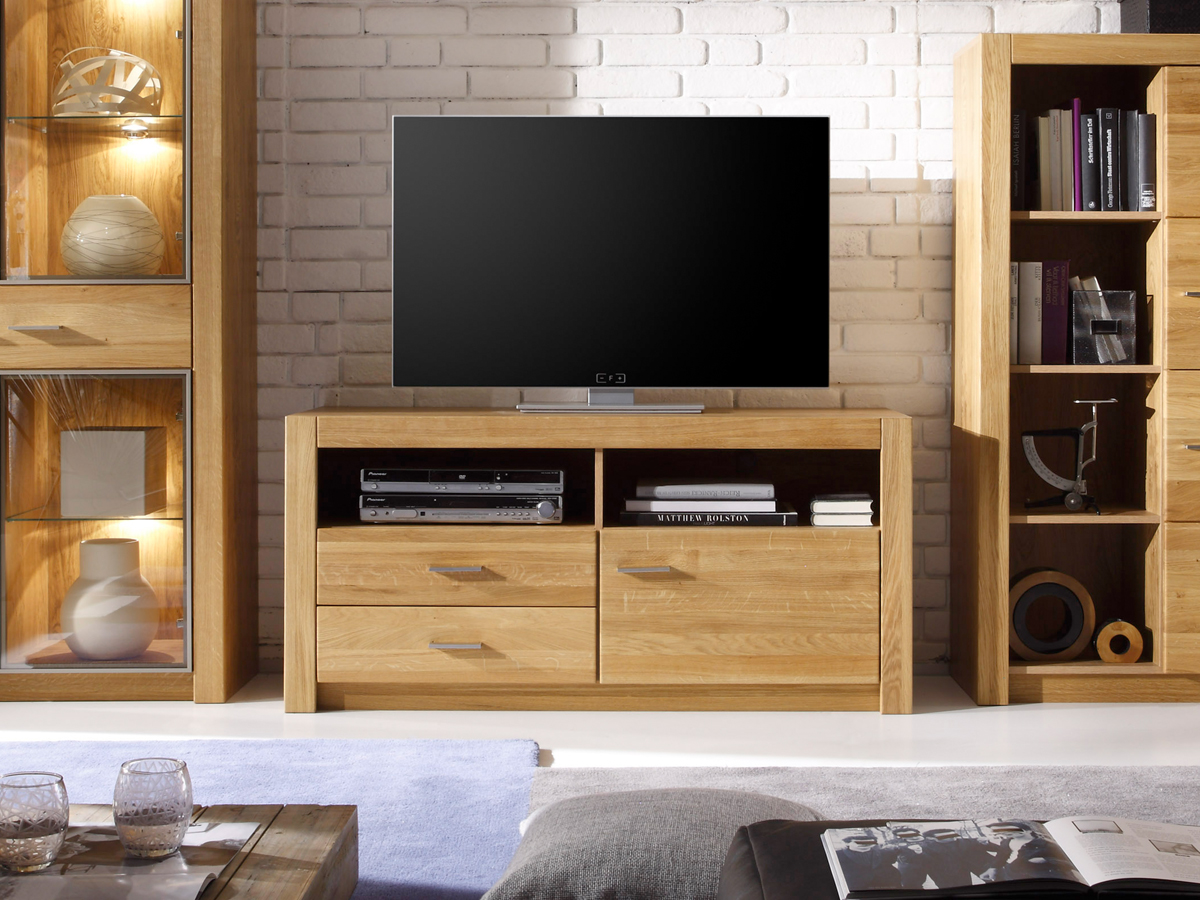 tv und hifi m bel aus eiche. Black Bedroom Furniture Sets. Home Design Ideas