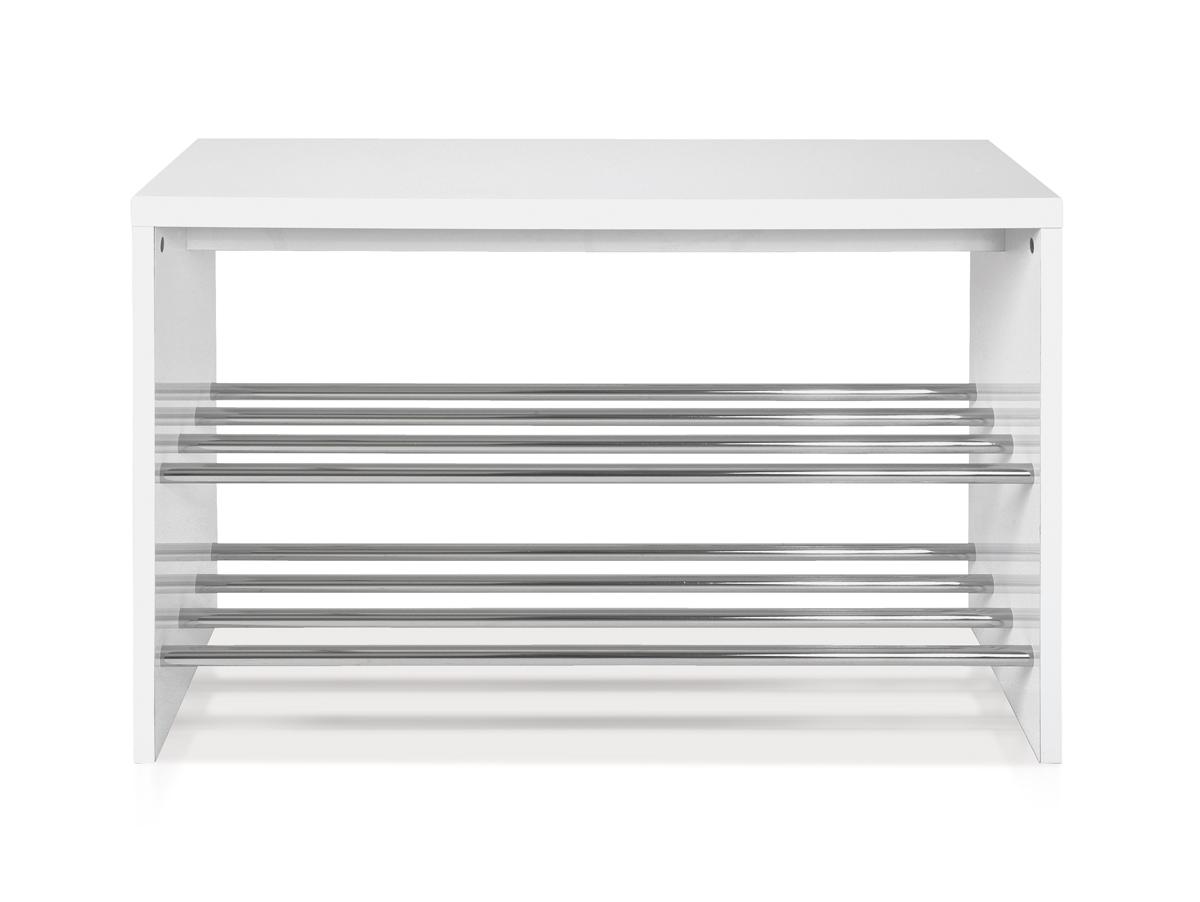 marius ii sitzbank garderobenbank weiss chrom. Black Bedroom Furniture Sets. Home Design Ideas