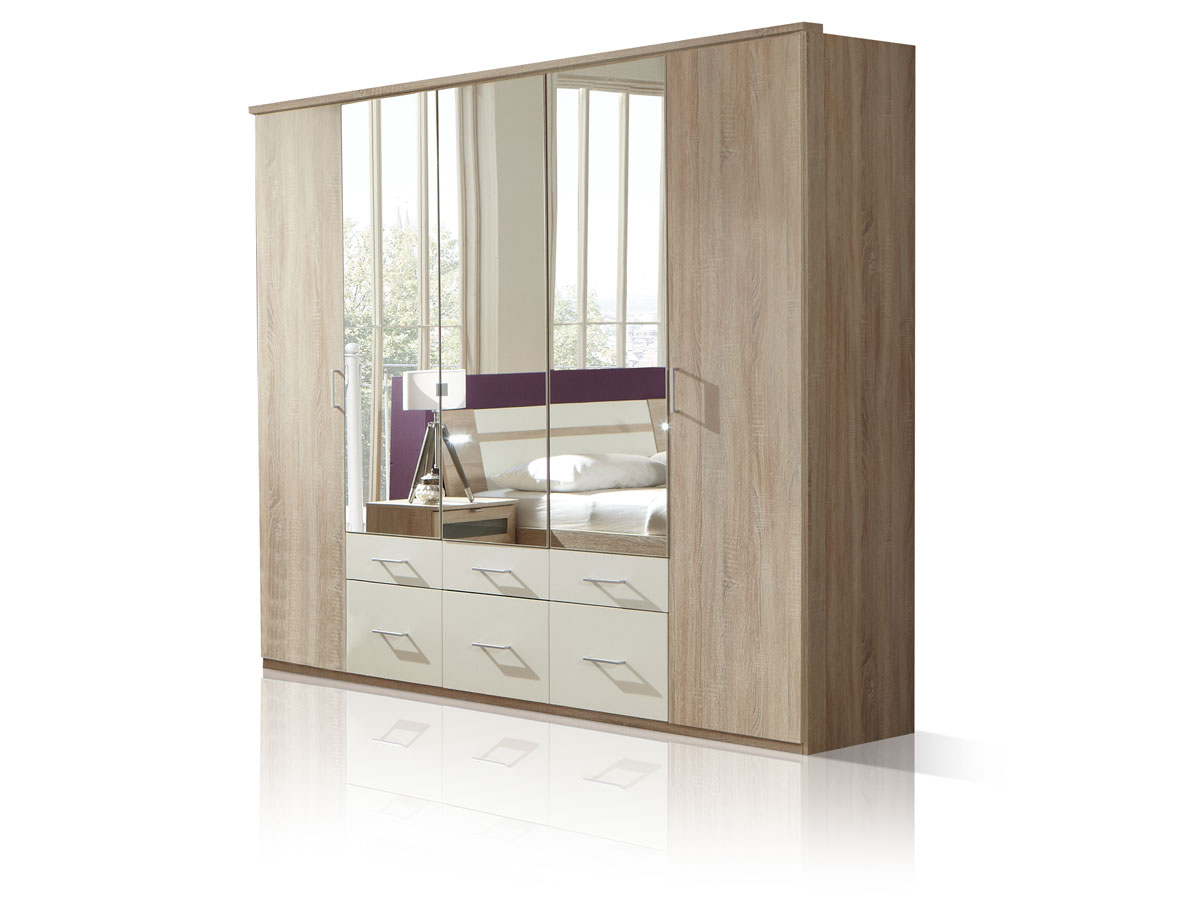 marlin kleiderschrank eiche s gerau wei. Black Bedroom Furniture Sets. Home Design Ideas